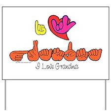 I-L-Y Grandma Yard Sign