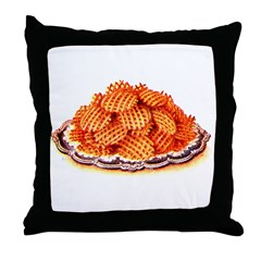 Wafer Potatoes Throw Pillow