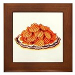 Wafer Potatoes Framed Tile