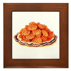 Wafer Potatoes Framed Tile