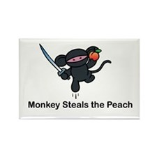 Flying Monkey Steals the Peac Rectangle Magnet