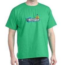 Oak Island NC - Lighthouse Design T-Shirt