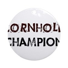 Cornhole Champion Ornament (Round)