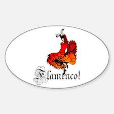 Flamenco Dancer Sticker (Oval 10 pk)