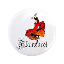 "Flamenco Dancer 3.5"" Button (100 pack)"