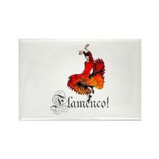 Flamenco Dancer Rectangle Magnet