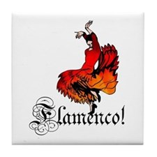 Flamenco Dancer Tile Coaster