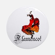 Flamenco Dancer Ornament (Round)