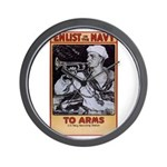 To Arms Wall Clock