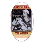 To Arms Sticker (Oval 10 pk)