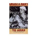 To Arms Sticker (Rectangle 10 pk)