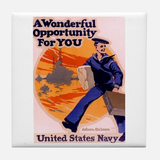 A Wonderful Opportunity for You Tile Coaster