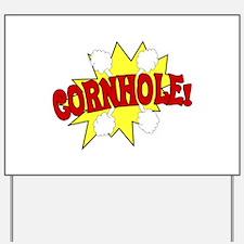 Cornhole Boom Yard Sign