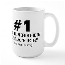 #1 Cornhole Player Mug