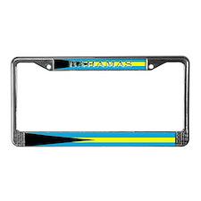 Bahamas Blank Flag License Plate Frame