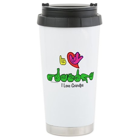 I-L-Y Grandpa Stainless Steel Travel Mug