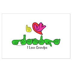 I-L-Y Grandpa Posters