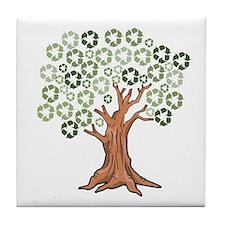 Cute Recycle symbol Tile Coaster
