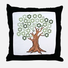 Funny Recycle Throw Pillow