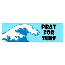 Pray For Surf Bumper Sticker