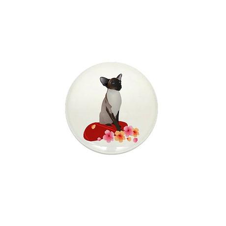 Siamese Princess Mini Button