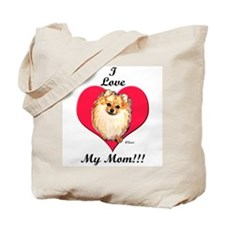Wicket the Pom Loves Mom Tote Bag
