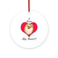 Wicket the Pom Loves Mom Ornament (Round)