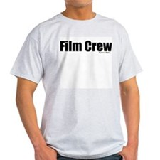 """Film Crew"" Ash Grey T-Shirt (FRONT PRINT)"