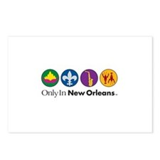 Only In New Orleans - 4 Icon Postcards (Package of