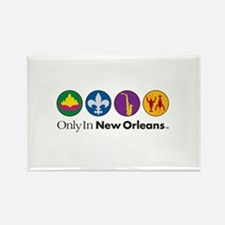 Only In New Orleans - 4 Icon Rectangle Magnet