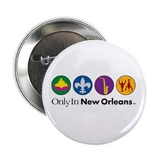 "Only In New Orleans - 4 Icon 2.25"" Button"