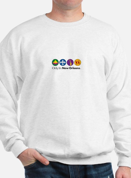 Only In New Orleans - 4 Icon Sweatshirt
