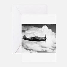 P-47 and Clouds Greeting Cards (Pk of 10)