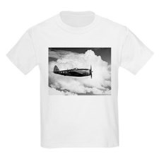 P-47 and Clouds Kids T-Shirt