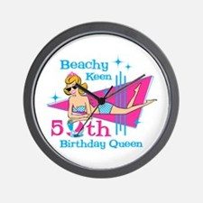 Beachy Keen 50th Birthday Wall Clock
