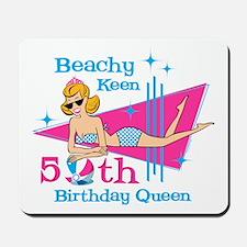 Beachy Keen 50th Birthday Mousepad
