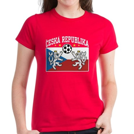 Ceska Republika Soccer Women's Dark T-Shirt
