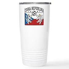 Ceska Republika Soccer Thermos Mug