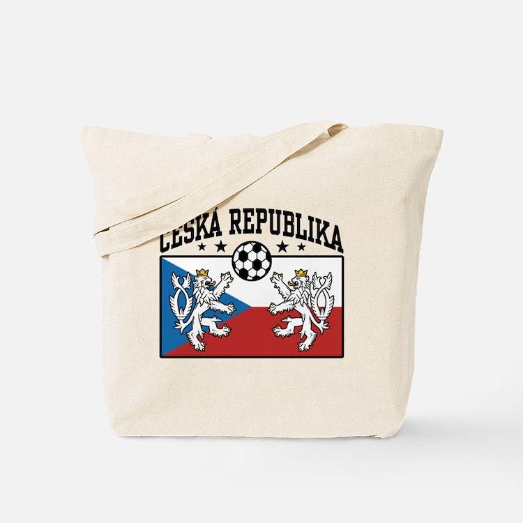 Ceska Republika Soccer Tote Bag