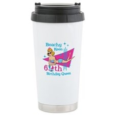 Beachy Keen 60th Birthday Travel Mug