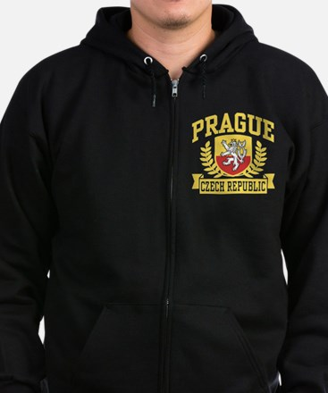 Prague Czech Republic Zip Hoodie (dark)