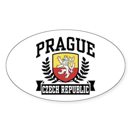 Prague Czech Republic Sticker (Oval)