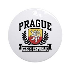 Prague Czech Republic Ornament (Round)