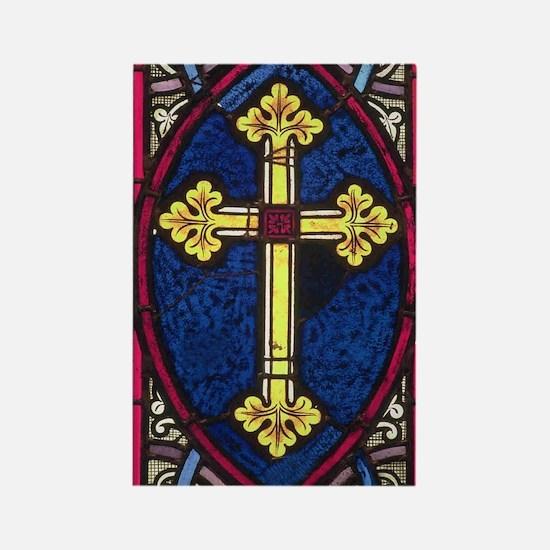 Cross design Rectangle Magnet