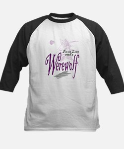 I'm in Love with a Werewolf Kids Baseball Jersey