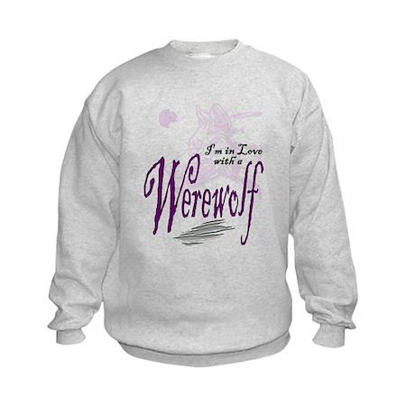 I'm in Love with a Werewolf Kids Sweatshirt