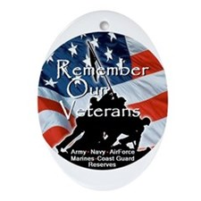 MEMORIAL DAY Ornament (Oval)