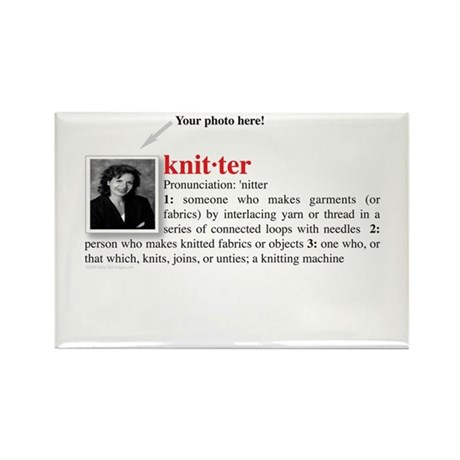 Definition of a Knitter Rectangle Magnet