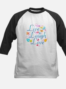 Live Laugh Love Kids Baseball Jersey
