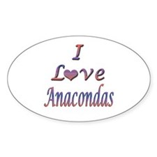 I Love Anacondas Decal